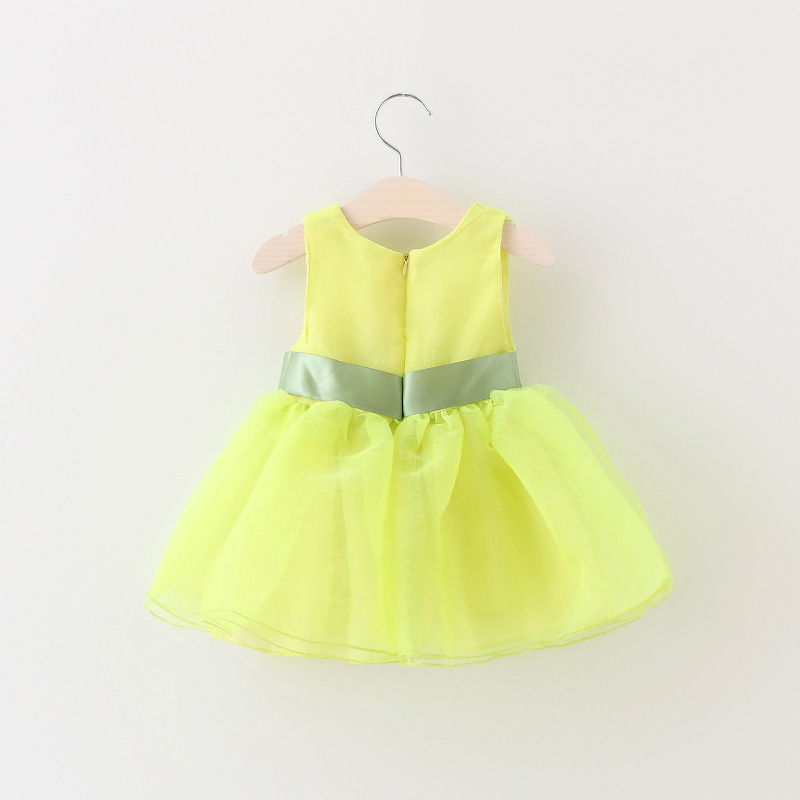 b65b0ca6c Buy 1 3 year baby girls dresses summer princess big bow pearls ...