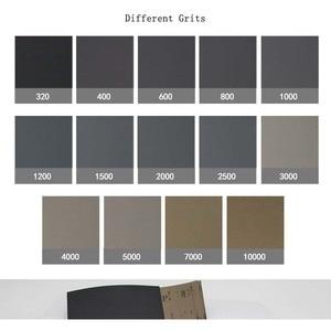 "Image 5 - 42 Pcs Waterproof Sandpaper 320 to 10000 Grit, 9"" x 3.6"", for Wood Furniture Finishing, Metal Sanding and Automotive Polishing"