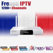 Zidoo x9 + 1 jahr französisch iptv allwinner h3 quad core android tv box 2G/8G H.265/HEVC 4 Karat 2,4 GHz WiFi mit Kanal + M6 W9 SFR OCS C8(China (Mainland))