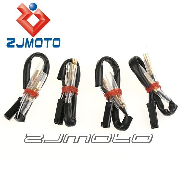 compare prices on wiring turn signals online shopping buy low 4 pcs motorcycle oem turn signal wiring adapter plug harness connectors 2 wire for suzuki