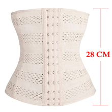 28cm Height Hot New Women Body Shaper Latex Waist Trainer Cincher Tummy Girdle Corset Shapewear Slimming Underbust Control Belt