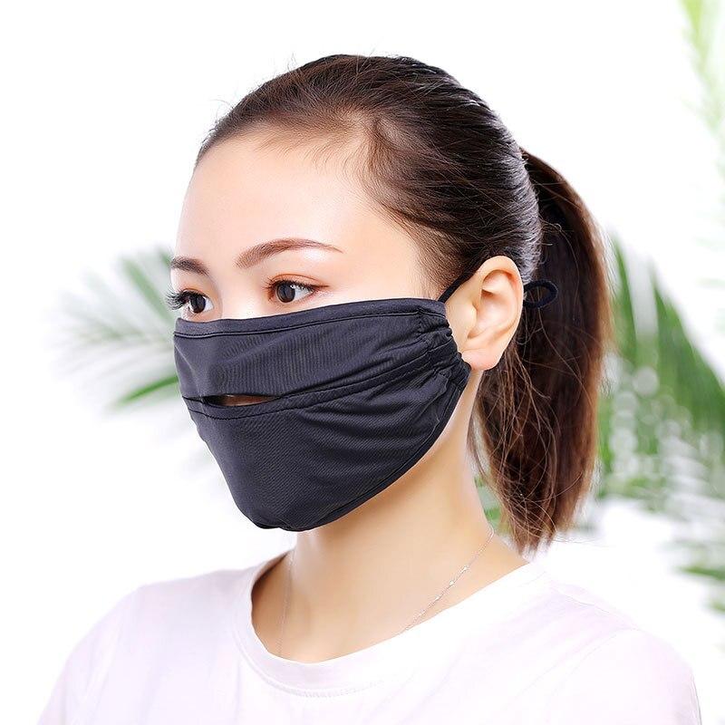 Sommer Liebhaber Eis Seide Mund Gesicht Maske Unisex Sonnenschutz Mund Maske Atmungsaktive Öffnung Typ Staub-proof Gesicht Haube Gutes Renommee Auf Der Ganzen Welt Masken