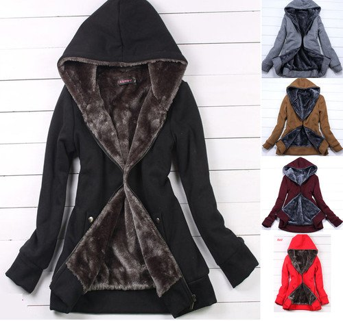 Online Shop Korea Fashion Womens Long-Sleeved Hoodie Thick Fleece ...