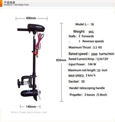 SUNELEXE electric outboard motor propeller plane hanging pound 18LBS propeller stern drive motor boats