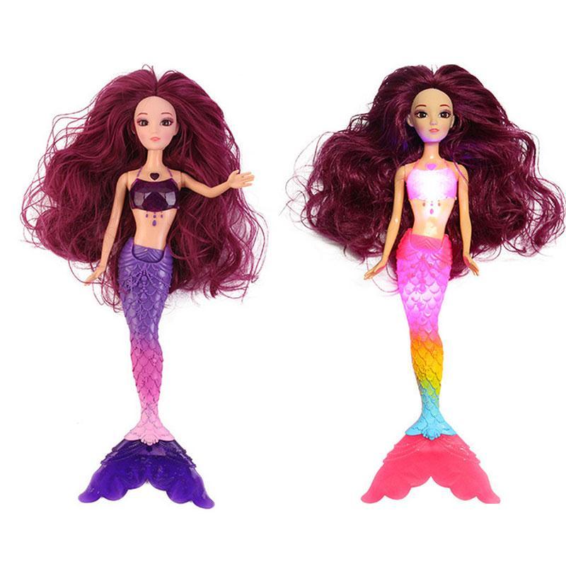 Fashion LED Swimming Mermaid Doll Flashing Mermaid Dolls Light Up Educational Novelty Toy Princess Mermaid Toys For Girls Gifts