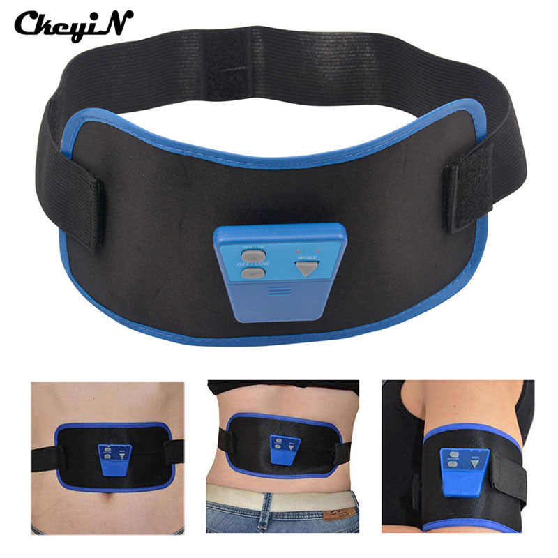 1aaa065c30 Electric Body Massager Vibrating Belt Pulse Muscle Arm Leg Waist Exercise Slimming  Fat Burning Abdomen Device
