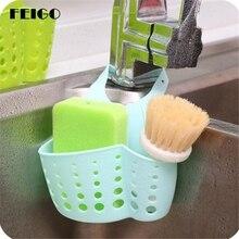 FEIGO Home Kitchen Suspended Drain Bag Basket Bathroom Storage Tools Sink Portable Soap Holder F97
