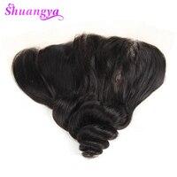 Shuangya Hair Brazilian Loose Wave Hair Lace Frontal Closure 13 4 Inch Free Part 100 Human