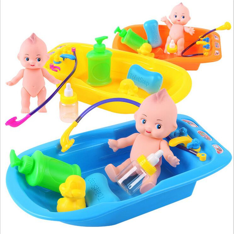 4 Color Choice Plastic Bathtub Baby Doll Bath Toy Set Classic Toys ...