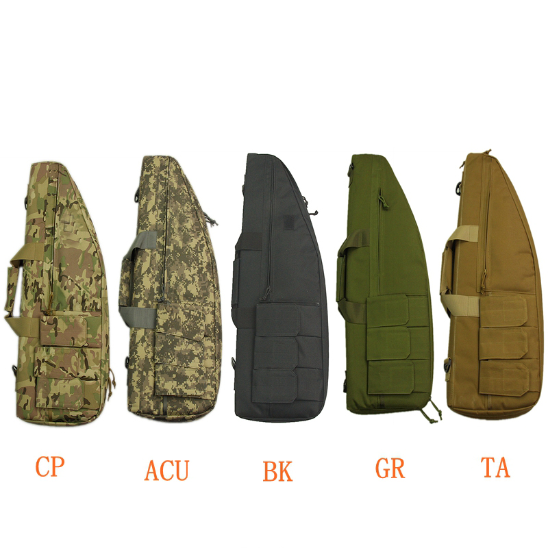 Wholesale Price 70cm High Quality Nylon Rifle Bag Tactical Gun Bags for Outdoor Hunting War Game Activities BLACK TAN GREEN high quality tactical outdoor view wind duck for hunting target cl38 0006