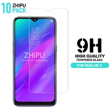 10 Pcs Realme 3 Tempered Glass For OPPO Screen Protector 2.5D 9H Protective Film
