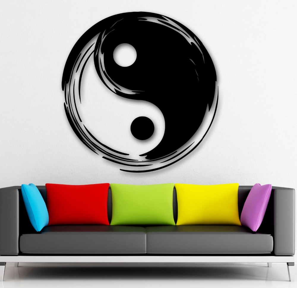Us 7 92 20 Off Wall Decal Chinese Style Vinyl Sticker Tai Chi Asian Oriental Bedroom Livingroom Home Decoration House Accessories Decor Ww 137 In