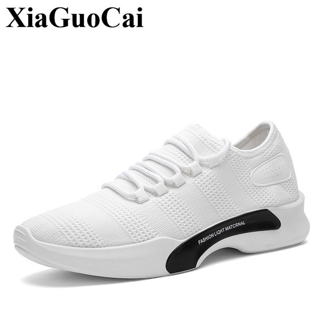 c385878d7392e New Casual Shoes Men Sneakers White Breathable Lace-up Adult Male Tenis  Footwear Light Soft Design Fashion Solid Wear-resistant
