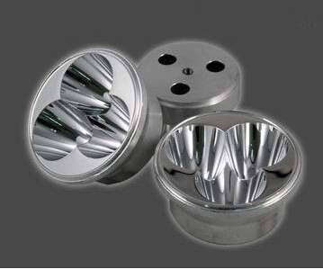 #NUR-54 3 in 1 Reflective Cup, Size:54X26mm, Angle: 8 deg, Clean Surface, Materials: Aluminum, Match: CREE XM-L