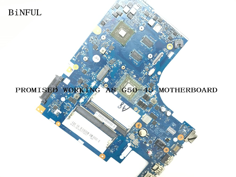BiNFUL AVAILABLE 100% new WORKING PROCESSOR A8 ACLU5 / ACLU6 NM-A281 LAPTOP  MOTHERBOARD FOR LENOVO G50-45 NOTEBOOK PC