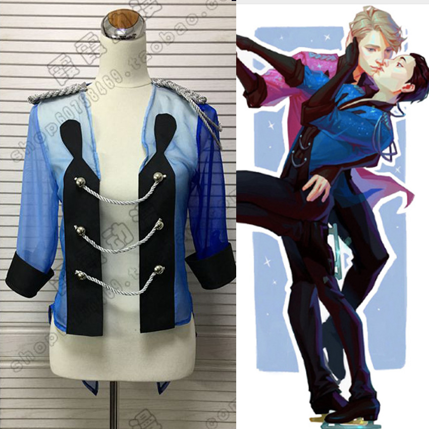 Yuri on Ice Yuri Katsuki New Blue sports clothes Cosplay Yuri!!! on Ice Costume Z1001