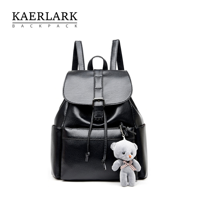 86072af1f79 KAERLARK Brand New Fashion Women Anti Theft Backpack PU Leather School  Girls Female Knapsack Bags For Teenagers Ladies WS0095