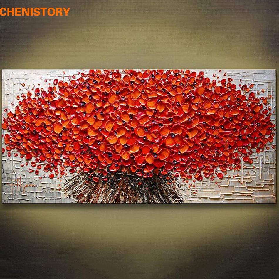 Unframed gros Texturat moderne de mână Pictate Palette cuțit Pictură cu ulei Pânză de perete Imagine de artă pentru living Camera de artă