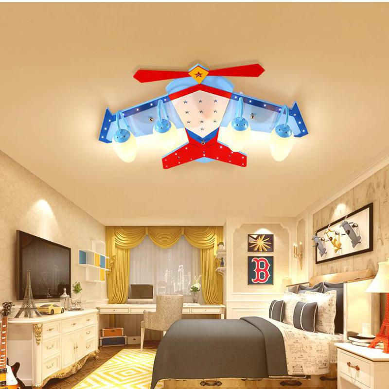 Us 216 63 13 Off Modern Creative Cartoon Airplane Lights Boys Room E27 Lamps Led Ceiling Kindergarten Kid Light In From