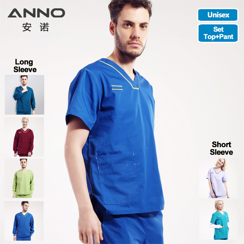 Nursing Uniform Medical Female Male Scrubs Suit Nurse Scrubs For Woman And Man Dentist Clothes Surgical Gown Shirt Pant Costumes
