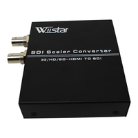 HDMI TO SDI Converter Scaler 1X2( 2 Port 3G HD SD)hdmi to sdi conver 720p to 1080p for Monitor/Camera/Display Free Shipping