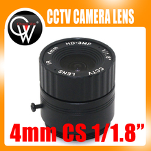 4mm cs lens HD CCTV Camera Lens 78 degree 3MP IR HD Security Camera Lens For HD IP AHD HDCVI SDI Cameras CS Mount