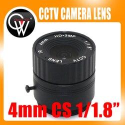 4mm cs obiektyw HD KAMERA TELEWIZJI PRZEMYSŁOWEJ obiektyw 78 stopni 3MP IR obiektyw kamery bezpieczeństwa HD dla HD IP AHD HDCVI kamery SDI CS do montażu na