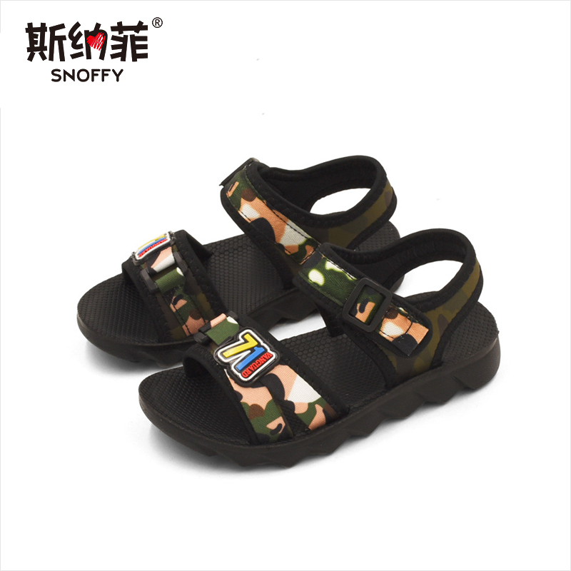 Boys new summer childrens casual sandals in the big boy 2018 Korean version of the wild camouflage sandals