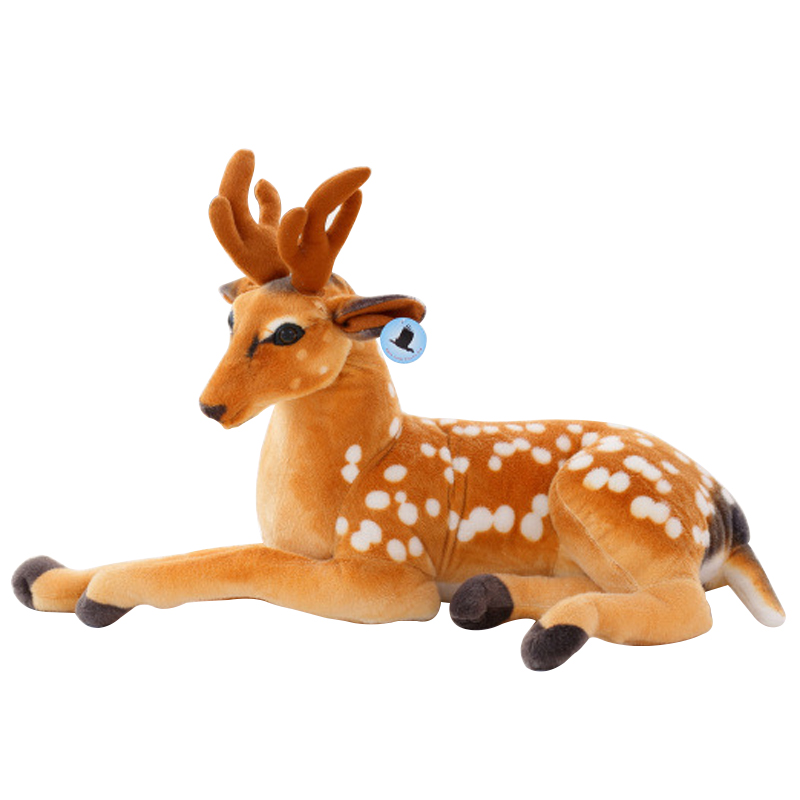 1pc 30-50cm Sitting position Simulation Deer Plush Toy pillows Staffed Sika Deer Toy for Kids Baby Doll Childrens Birthday Gift
