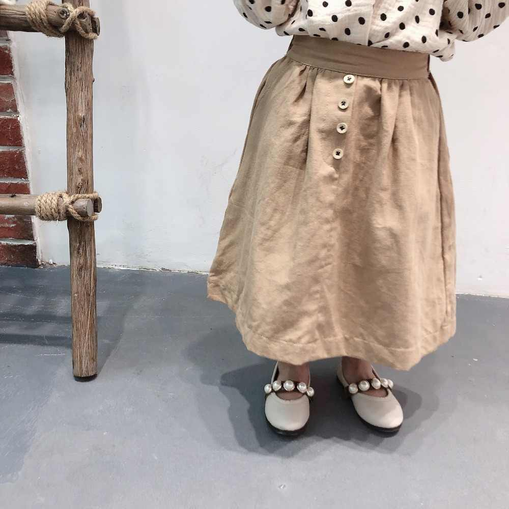 eb9cb48f57 ... 2019 New Arrival Summer Spring Baby Girls Long Skirt Children Kids High  Quality Cotton Linen Clothes ...