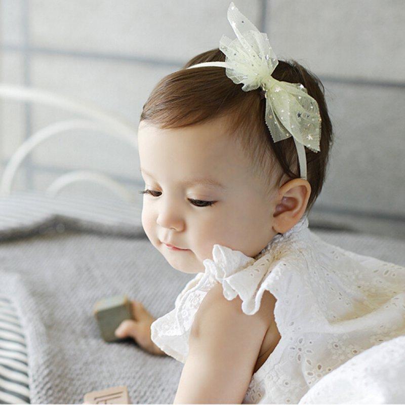 Lovely Infant Toddler Baby Bow Headband Girls Lace Headband Hairband Bowknot Band Baby Hair Accessories S2