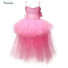 Little Girls Mesh Tulle Tutu Dress Princess Costume For Festival Party Cosplay Dress Up Sleeveless Bow Dresses 2-8years цена и фото