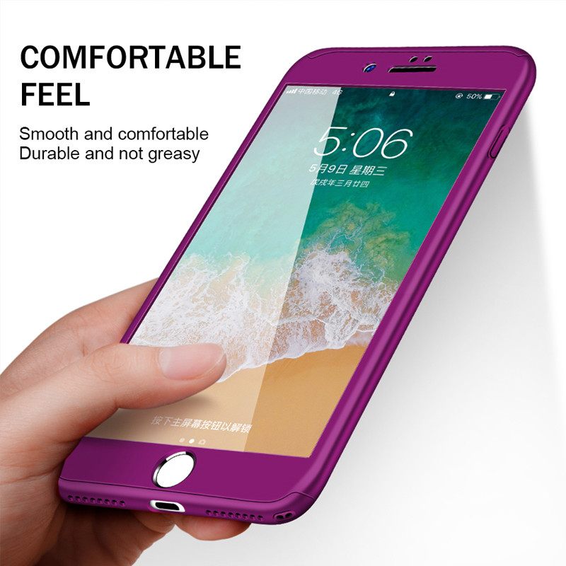 ZNP 360 Full Protective Phone Case For iPhone 8 7 Plus 6 6s Case 5 5S SE X 10 Full Cover For iPhone XR Xs Max X Case cover