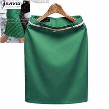 Yeni moda kadın takım elbise kalem etek zarif mesleki OL etekler dahil ücretsiz kemer artı boyutu S XXXL 8 renk