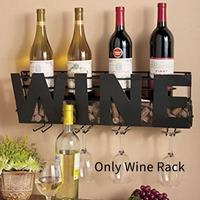 Bottle Holder Accessories Wall Mounted Long Stem Hanging Container Wine Rack Frame Shelf Cork Storage Kitchen Iron Household
