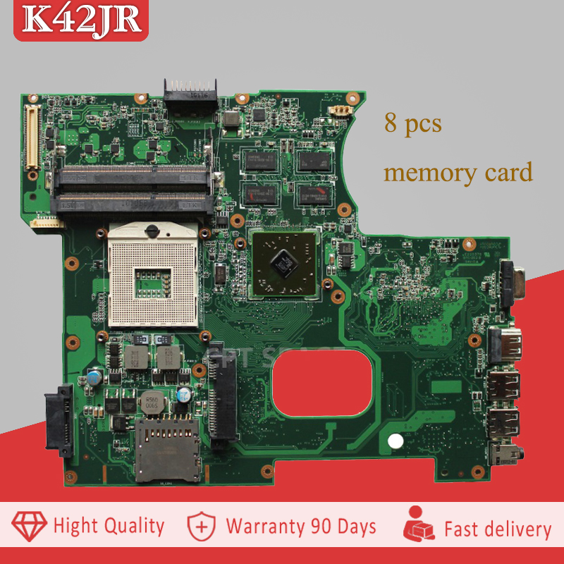 YTAI K42JR Rev3.0 mainboard For ASUS X42J K42J K42JB K42JZ K42JY K42JR Laptop Motherboard REV3.0 DDR3 HM55 Mianboard 100% tested