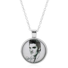 HOT Sale love Elvis Presley Pocket Necklace Women Locket girl lady antibrittle the king of rock roll Music Fans Memory Gift(China)