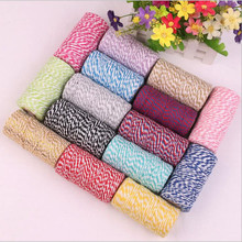 100M/roll 2mm Jute Twine Rope Cotton Cord Decorative Handmade Accessory Hemp Rope Bakers for Diy Jewelry Making Z574