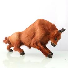 WYZHY  Simulation bullfighting high-end crafts ornaments leather fur handmade gift 31CMx8CMx16CM
