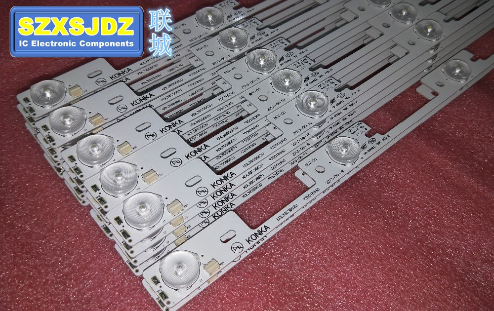 New 100PCS Lot KDL39SS662U 35018339 35018340 327MM 4 LEDS 1LED 6V