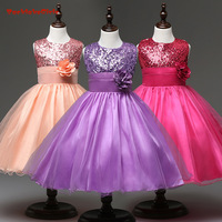 BacklakeGirls 2018 Hot Sale Cheap Flower Girl Dresses Muliti Color With Shinny Sequined Communication Dress For