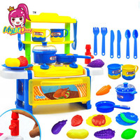 MylitDear Kitchen Toys Pretend Play Cooking Toys Tableware Sets Baby Kitchen Cooking Simulation Model Happy Pretend