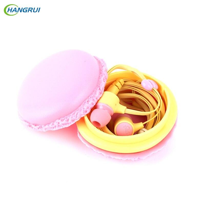 Hangrui  macarons de control en la oreja los auriculares con cable de auriculare