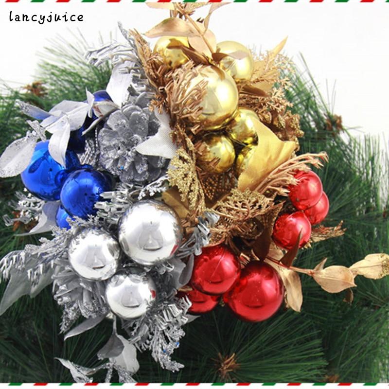 Christmas Fruit Decorations Part - 49: Hot Sale 15cm Christmas Ball Christmas Fruit Decoration Ear Cuttings Flower  Cuttings(China (Mainland