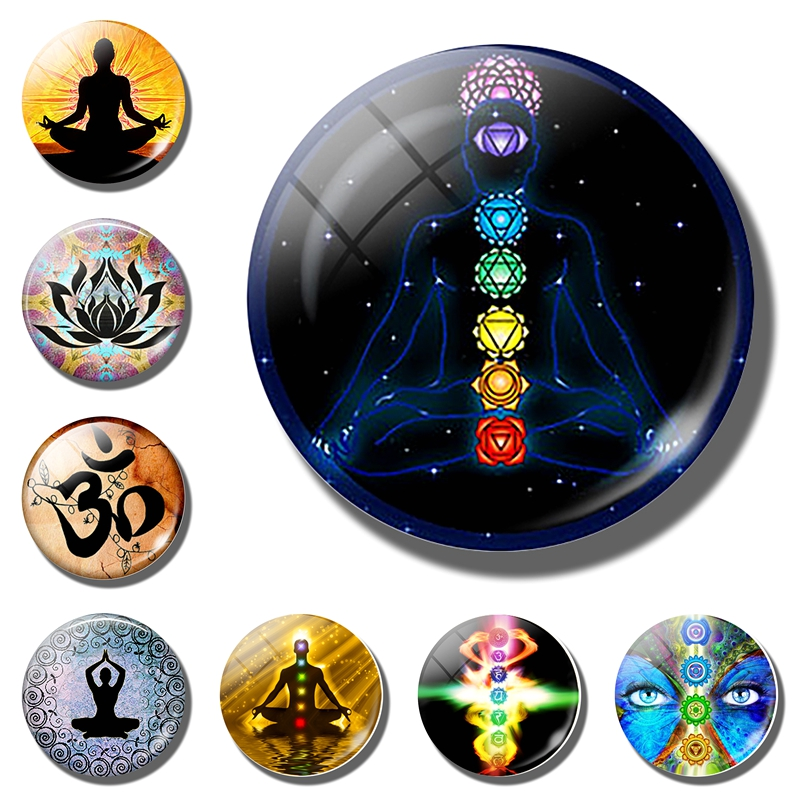 Chakra Symbols fridge magnet. Chakra Symbols Sign refrigerator magnets. Chakra Symbols fridge sticker Magic Sign Zen Home Decor|Fridge Magnets|Home & Garden - title=
