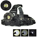 Black 3 Modes XM-L T6 LED Headlamp 2000 Lumen Linternas Frontales Cabeza Headlight Head Torch Lamp Zoomable For Outdoor Sport