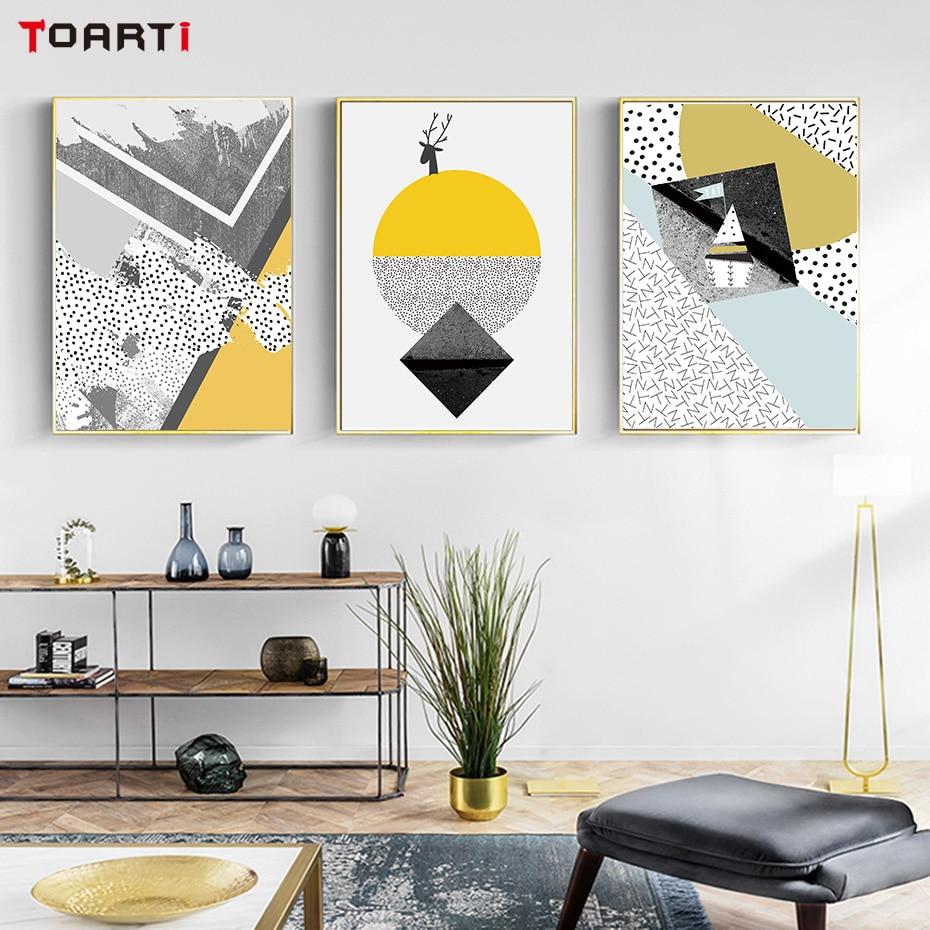Bedroom Art Decor Inspirational Quote Geometric 3 Scandinavian Circle