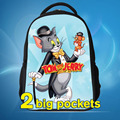 2016 New Design Children's Cartoon 3D Backpack for Boys,Tom and Jerry Kids School Backpacks,Hot Animal Cats and Mouse Backpack