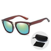 Vintage Square Frame Men Sunglasses Brand Designer Polarized UV400 Sun Glasses For Women Black Frame Driving Glasses with Case