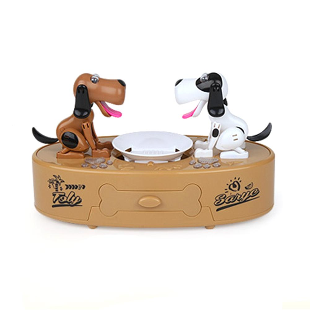 1pcs Stealing Coin Double Dog Piggy Bank Saving Money Box Without Batteries Lovely Dog Saving